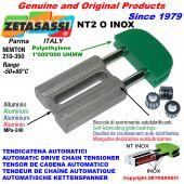 TENSOR DE CADENA AUTOMATICO LINEAL NT2 INOX cabeza oval Newton210:350 con casquillos autolubricantes