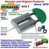 AUTOMATIC LINEAR DRIVE CHAIN TENSIONER NT2 round head Newton180:420 with self-lubricating bushings