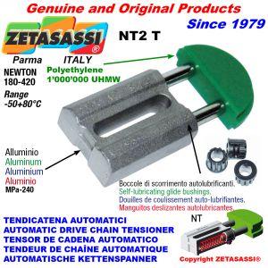 TENDEUR DE CHAÎNE AUTOMATIQUE LINÉAIRE NT2 tête ronde Newton180:420 avec douilles autolubrifiantes