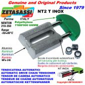 AUTOMATIC LINEAR DRIVE INOX CHAIN TENSIONER NT2 INOX round head Newton210:350 with self-lubricating bushings