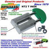 TENSOR DE CADENA AUTOMATICO LINEAL NT2 INOX cabeza redonda Newton210:350 con casquillos autolubricantes