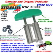 TENSOR DE CADENA AUTOMATICO LINEAL NTA1 INOX cabeza a arco oval Newton110:240 con casquillos autolubricantes
