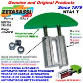 TENSOR DE CADENA AUTOMATICO LINEAL NTA1 cabeza a arco redondo Newton130:250 con casquillos autolubricantes
