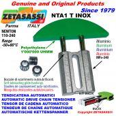 TENDICATENA AUTOMATICO LINEARE NTA1 INOX testa ad arco tondo Newton110:240 con Boccole Autolubrificanti