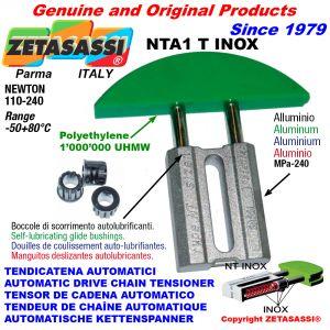 TENSOR DE CADENA AUTOMATICO LINEAL NTA1 INOX cabeza a arco redondo Newton110:240 con casquillos autolubricantes