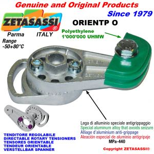 DIRECTABLE ROTARY CHAIN TENSIONER ORIENTP with chain slider oval head