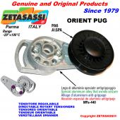 DIRECTABLE ROTARY BELT TENSIONER ORIENTPUG with rim pulley