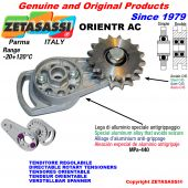 DIRECTABLE ROTARY CHAIN TENSIONER ORIENTR with idler sprocket AC