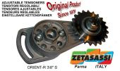 DIRECTABLE ROTARY CHAIN TENSIONER ORIENTR with hardened idler sprocket ACTE