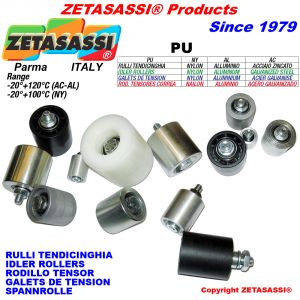 IDLER ROLLERS (Steel-Aluminium-Nylon) with bearings