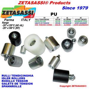 RULLI TENDICINGHIA (Acciaio,Alluminio,Nylon) con cuscinetti