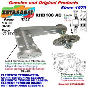 KETTENSPANNER ELEMENTE RHB188 mit Kettenräder und KettenRadsätze AC Newton50:500
