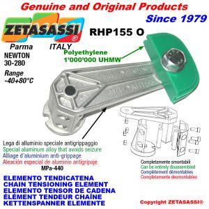 CHAIN TENSIONING ELEMENT RHP155 with chain slider oval head Newton30:280