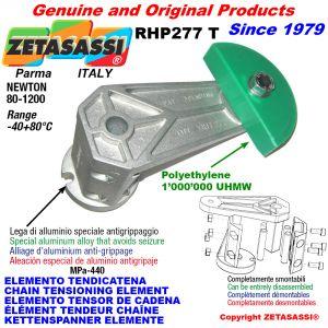 ÉLÉMENT TENDEUR DE CHAÎNE RHP227 avec patin tendeur de chaîne tête ronde Newton80:1200