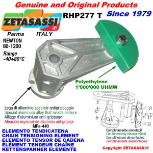 ELEMENTO TENDICATENA RHP227 con pattino tendicatena a testa tonda Newton80:1200