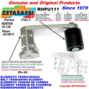 BELT TENSIONING ELEMENT RHPU111 with idler roller Newton10:120