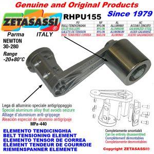 ELEMENTO TENDICINGHIA RHPU155 con rullo tendicinghia Newton30:280