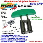 LINEAR AUTOMATISCHE INOX KETTENSPANNER TA05 INOX Ovalkopf gewölbt Newton110:240