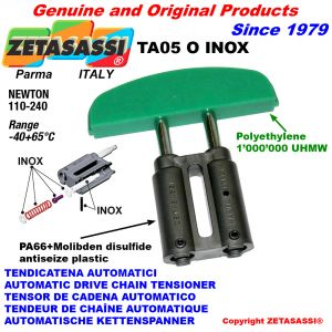 TENDICATENA AUTOMATICO LINEARE TA05 INOX testa ad arco ovale Newton110:240