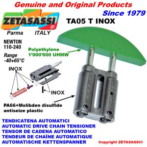 AUTOMATIC LINEAR DRIVE INOX CHAIN TENSIONER TA05 INOX round arch head Newton110:240