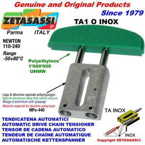 AUTOMATIC LINEAR DRIVE INOX CHAIN TENSIONER TA1 INOX oval arch head Newton110:240