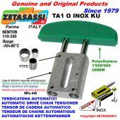 AUTOMATISCHE LINEAR INOX KETTENSPANNER TA1 INOX KU Ovalkopf gewölbt (PTFE Buchse) Newton110:240