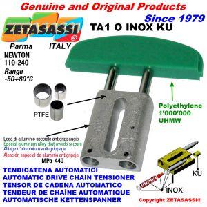 AUTOMATIC LINEAR DRIVE INOX CHAIN TENSIONER TA1 INOX KU oval arch head (PTFE bushes) Newton110:240