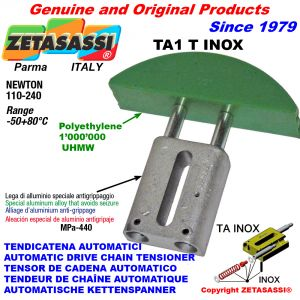 AUTOMATIC LINEAR DRIVE INOX CHAIN TENSIONER TA1 INOX round arch head Newton110:240