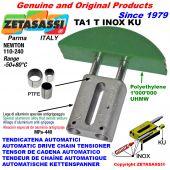 AUTOMATIC LINEAR DRIVE INOX CHAIN TENSIONER TA1 INOX KU round arch head (PTFE bushes) Newton110:240