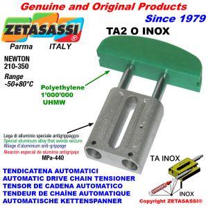 AUTOMATIC LINEAR DRIVE INOX CHAIN TENSIONER TA2 INOX oval arch head Newton210:350
