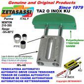 AUTOMATIC LINEAR DRIVE INOX CHAIN TENSIONER TA2 INOX KU oval arch head (PTFE bushes) Newton210:350