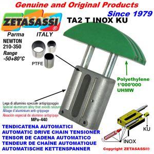 TENSOR DE CADENA AUTOMATICO LINEAL TA2 INOX KU cabeza a arco redondo (casquillos PTFE) Newton210:350