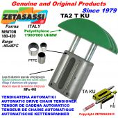 TENSOR DE CADENA AUTOMATICO LINEAL TA2 KU cabeza a arco redondo (casquillos PTFE) Newton180:420