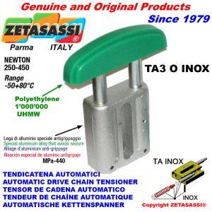 TENSOR DE CADENA AUTOMATICO LINEAL TA3 INOX cabeza a arco oval Newton250:450