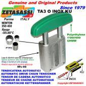 AUTOMATISCHE LINEAR INOX KETTENSPANNER TA3 INOX KU Ovalkopf gewölbt (PTFE Buchse) Newton250:450