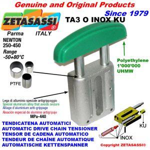 TENSOR DE CADENA AUTOMATICO LINEAL TA3 INOX KU cabeza a arco oval (casquillos PTFE) Newton250:450