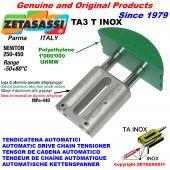 TENSOR DE CADENA AUTOMATICO LINEAL TA3 INOX cabeza a arco redondo Newton250:450