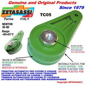 TENSOR AUTOMÁTICO ROTATIVO TC05 con agujero o rosca Newton30:80