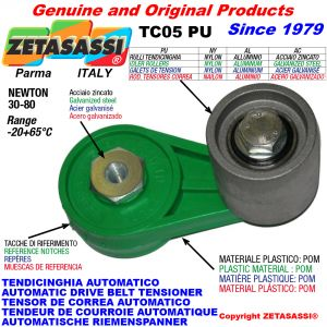AUTOMATIC ARM BELT TENSIONER TC05PU with idler roller Newton30:80