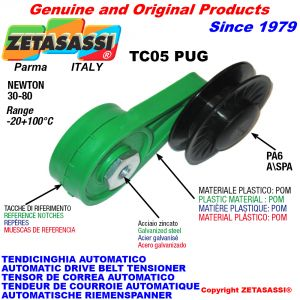 AUTOMATIC ARM BELT TENSIONER TC05PUG with rim pulley Newton30:80