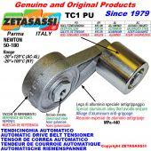 BRAS TENDEUR DE COURROIE TC1PU avec galet de tension Newton50:180