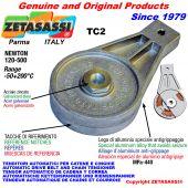 AUTOMATISCHE DREH SPANNARM TC2 mit Bohrung oder Gewinde Newton120:500
