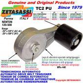 BRAS TENDEUR DE COURROIE TC2PU avec galet de tension Newton120:500