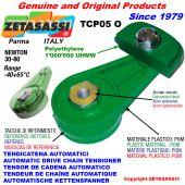 BRAS TENDEUR DE CHAÎNE TCP05 avec patin tendeur de chaîne tête ovale Newton30:80