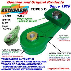 TENSOR DE CORREA AUTOMÁTICO ROTATIVO TCP05 patin tensor cadena cabeza oval Newton30:80