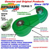 BRAS TENDEUR DE CHAÎNE TCP05 avec patin tendeur de chaîne tête ronde Newton30:80