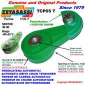 TENDICATENA ROTANTE TCP05 con pattino tendicatena a testa tonda Newton30:80