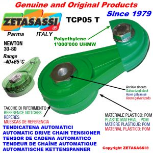 TENSOR DE CADENA AUTOMÁTICO ROTATIVO TCP05 patin tensor cadena cabeza redonda Newton30:80