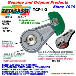AUTOMATIC ARM CHAIN TENSIONER TCP1 with chain slider oval head Newton50:180