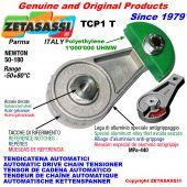 TENSOR DE CADENA AUTOMÁTICO ROTATIVO TCP1 patin tensor cadena cabeza redonda Newton50:180